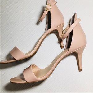 BP Nordstrom Nude strap heels sz 9.5